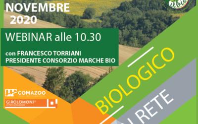 """Il 6 novembre il webinar """"Biologico in rete"""""""